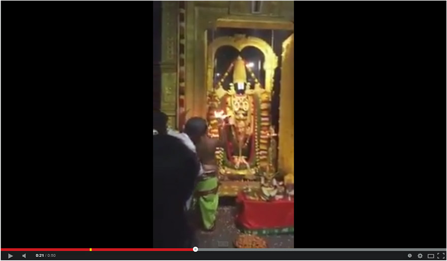New Very Rare Video of Tirupati Balaji Arati and Darshana