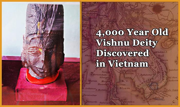 4000 Año Viejo Estatua Vishnu Descubierto en Vietnam
