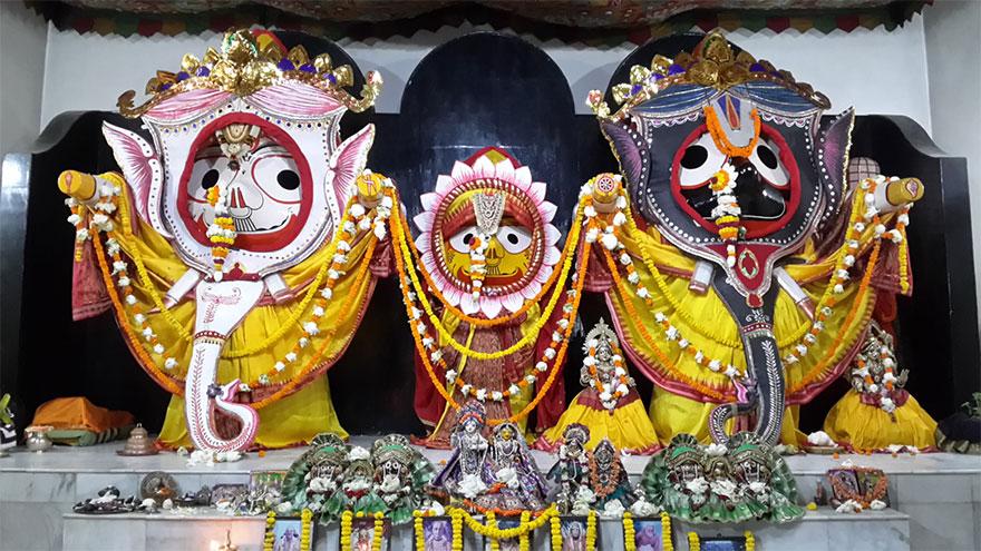 Bhaktivedanta Ashram's Jagannatha Temple in Bhadrak, Orissa