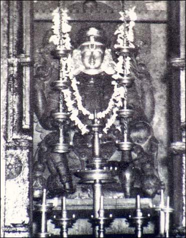 Deity of Lord Vishnu at Kachamkurissi