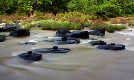 Dry Weather Reveals Amazing River With Thousands of Shiva Lingas