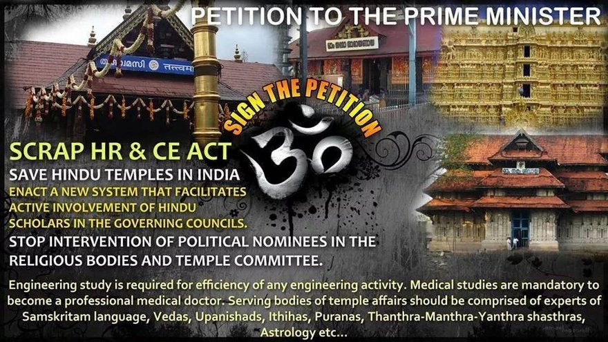 Freeing temples from state control