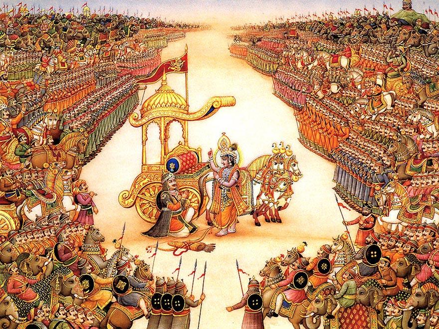 Business ethics and practice: Mahabharadha...........A DharmaYuddha based  on SWADHARMA......