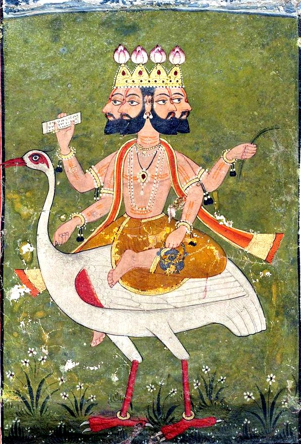 Brahma and his vahanas swan