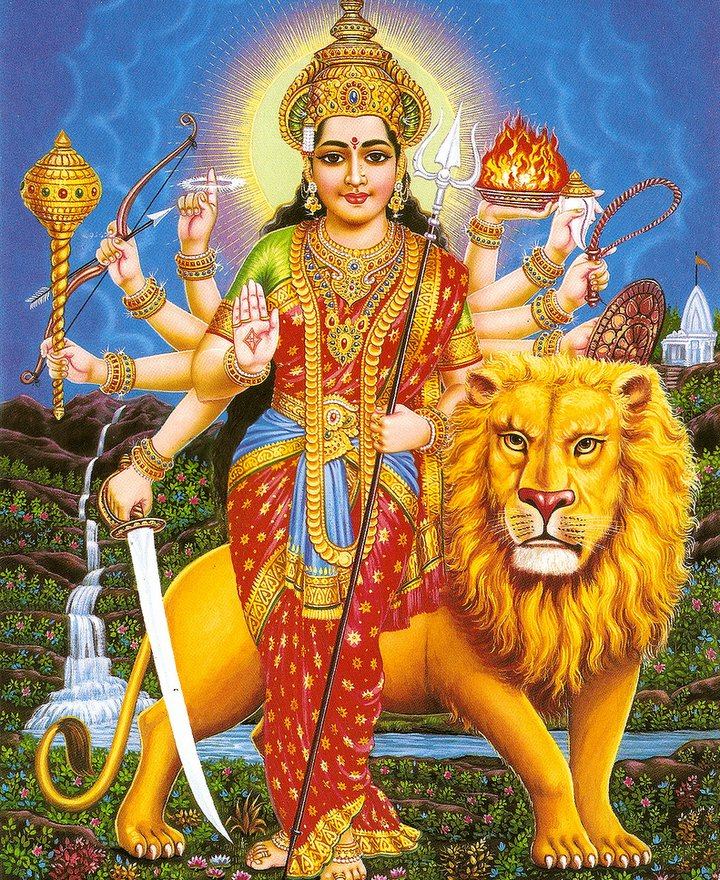 durga and lion