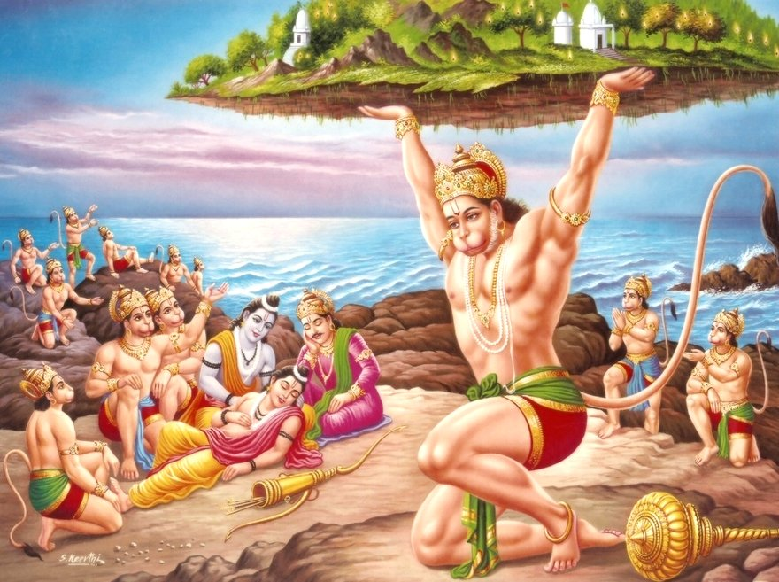 Hanuman Lifting Mountain for Laxman - 20