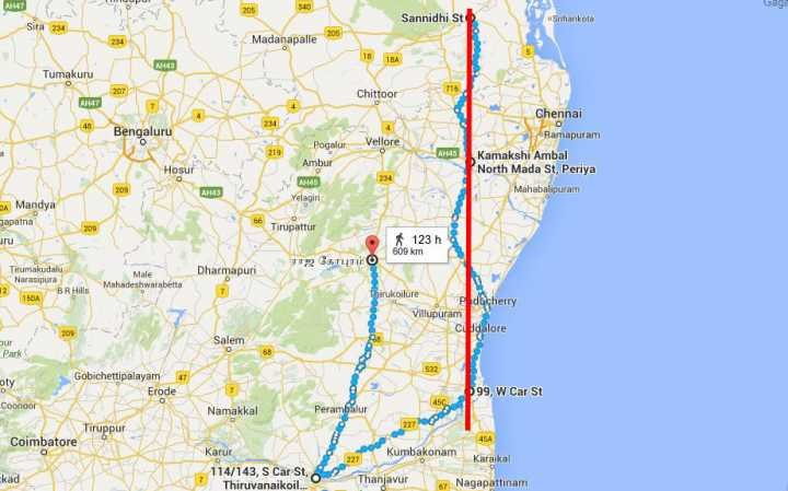 Ancient Hindu Temples Stand in a Straight Line