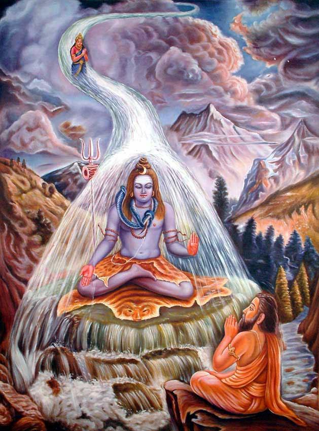 Ganga descends to earth.