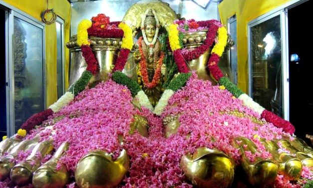 90 Foot Tall, 65 Ton Panchaloha Deity of Goddess Parameshwari in Penugonda