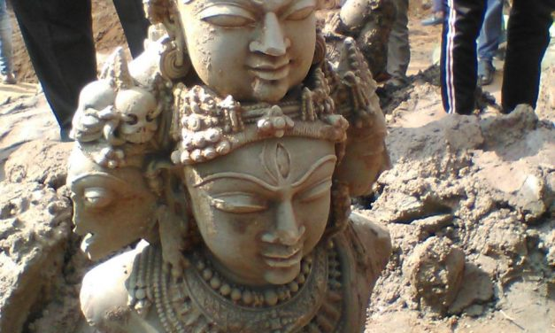 Ancient Deities Found While Constructing Bridge in Katni