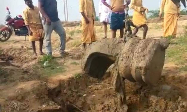 Five-Headed Nagendra Shiva Lingam was Found Today at the Village of Nagalamaduka
