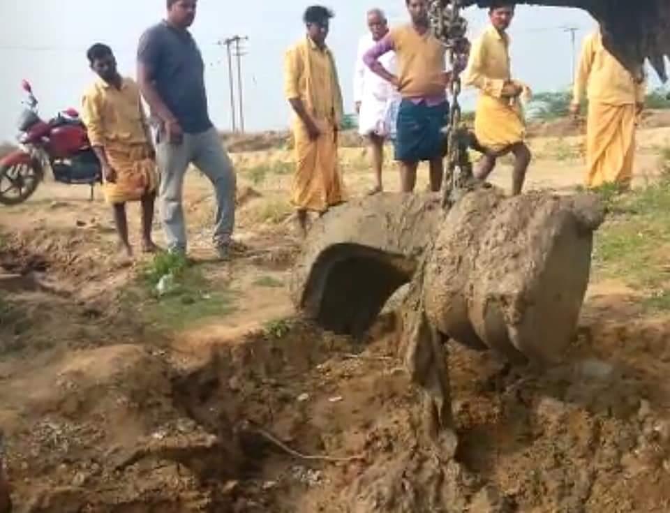 Five-Headed Nagendra Shiva Lingam was Found Today at the Village of Nagalamaduka